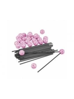 ZWARIOWANY NAMIOT zestaw 72 elementów - szaro-różowy