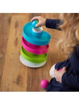 6 Fat Brain Toys Kołyszący Tor dla Kulek Wobble Run
