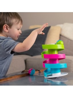 10 Fat Brain Toys Kołyszący Tor dla Kulek Wobble Run