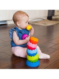 4 Fat Brain Toys Kule Tobbles Neo piramidka wieża 6m