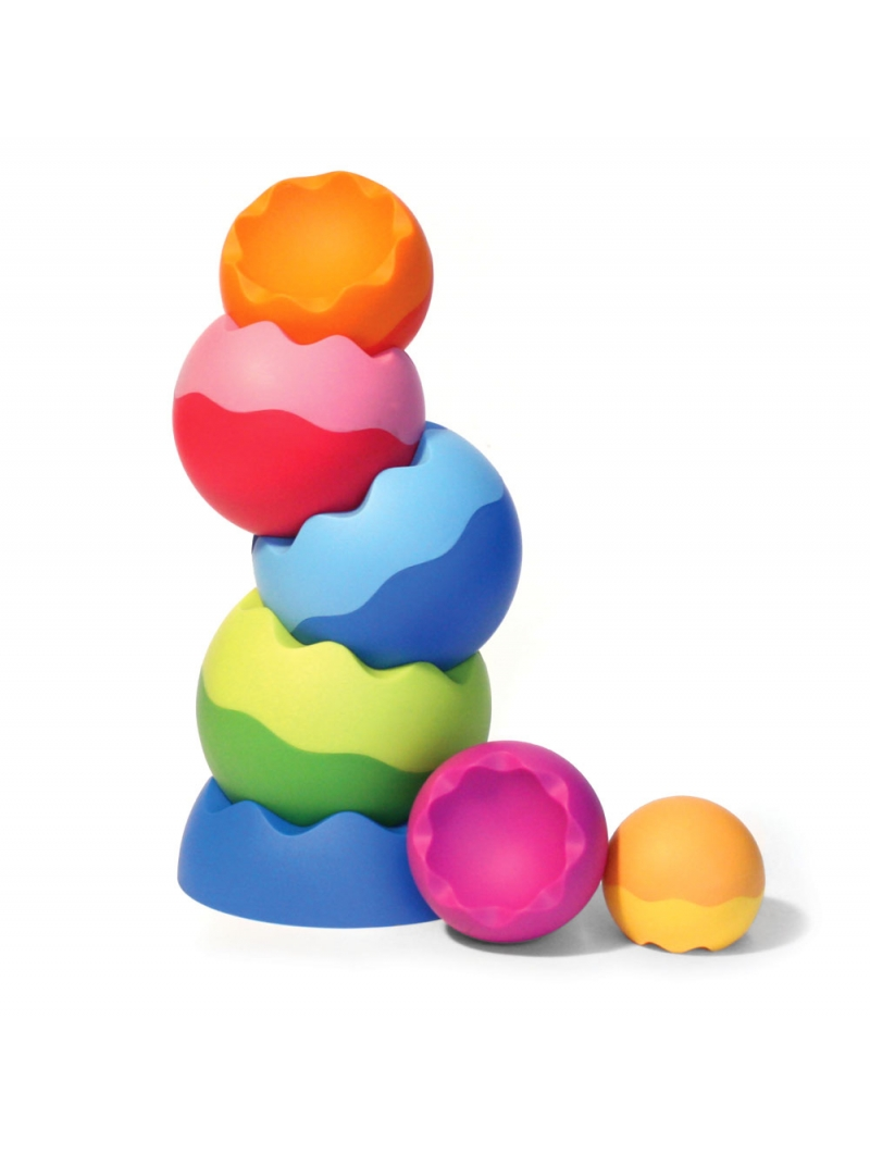 8 Fat Brain Toys Kule Tobbles Neo piramidka wieża 6m