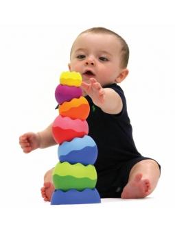 10 Fat Brain Toys Kule Tobbles Neo piramidka wieża 6m