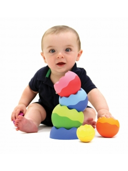12 Fat Brain Toys Kule Tobbles Neo piramidka wieża 6m